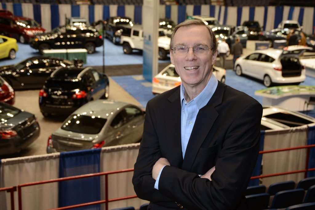 John Teevan, Shareholder, at the ENYCAR Auto Show - an automotive dealership accounting client.